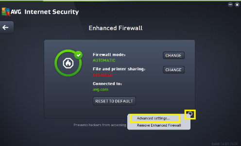 Configure AVG Firewall