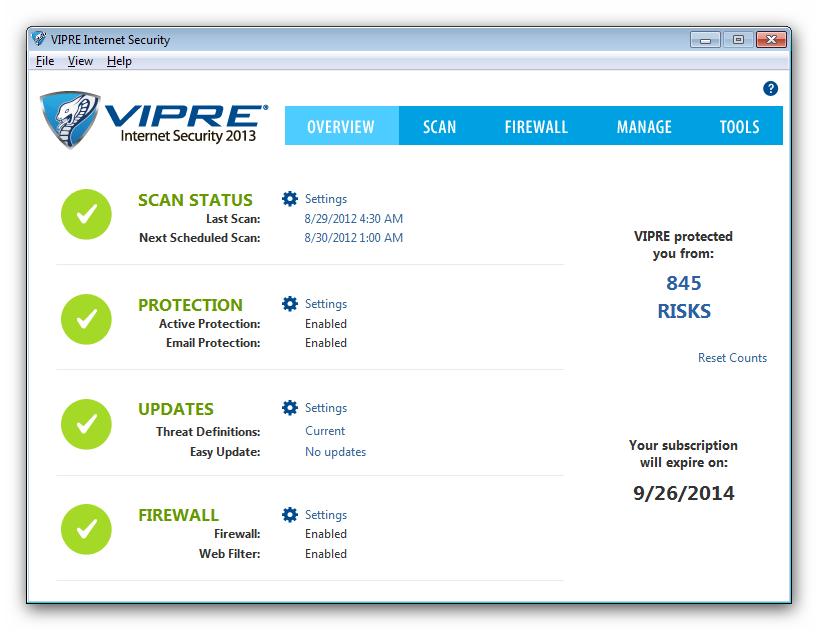 Configure VIPRE Internet Security